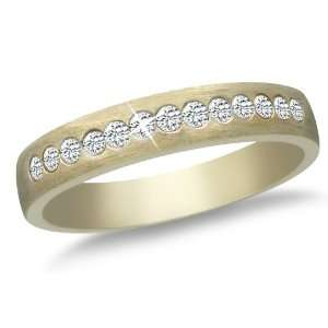 Yellow Gold Diamond Ring (1/5 cttw, I J Color, I2 I3 Clarity), Size 6