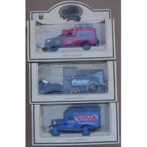Chevron Set Of (3) Die Cast Trucks From 1980`s England