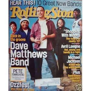 DAVE MATTHEWS ISSUE ROLLING STONE MAGAZINE     #902    AUGUST 8TH