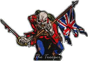 Iron Maiden The Trooper Embroidered Big Patch 11 Back