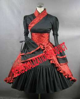 Sweet Lolita cotton black dress & Jacquard Skirt Ball Gown Prom