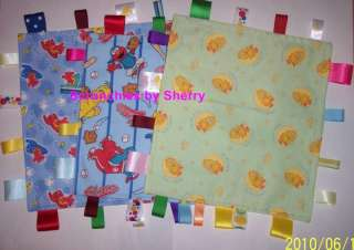 Sesame Street Elmo Big Bird Fabric Ribbon Blanket Baby