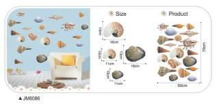 REMOVABLE HD SEA SHELLS art mural Wall decal wall Sticker JM8086