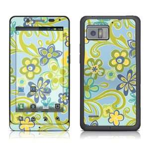 Hippie Flowers Blue Design Protective Skin Decal Sticker