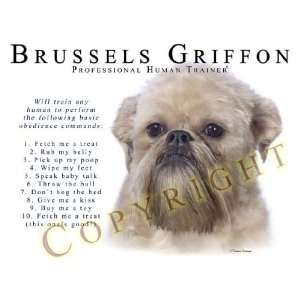 Brussels Griffon Human Trainer Mouse Pad Dog Mousepad