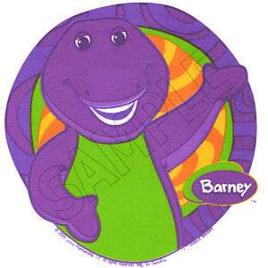 Barney Edible Cake Topper Decoration Image