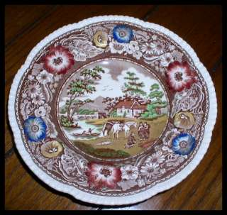 VINTAGE ROYAL CAULDON ENGLAND PLATE/BOWL 8 1/2