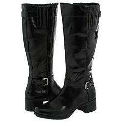 Khombu Madison Womens Black Patent Boots