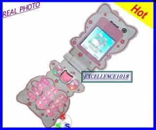 NEW FLIP C168 HELLO KITTY CELL PHONE UNLOCKED GSM PHONE