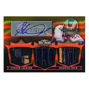 Steven Jackson Signed Jersey   2007 Topps Triple Threads Card