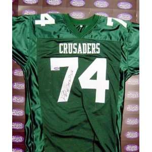 Signed Michael Oher Jersey   Crusaders High School blind side movie
