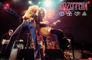 LED ZEPPELIN LIVE ON STAGE POSTER NEW