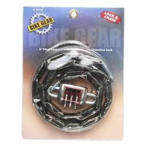 Bike Gear Heavy Duty Integrated Combination Lock and Chain