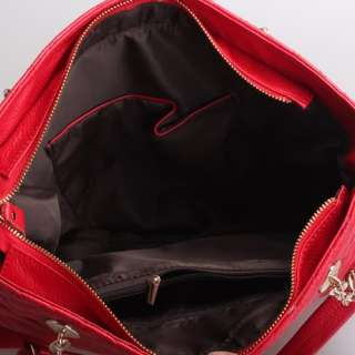Genuine Italian Leather Red Handbags, Purse, Hobo Bag, Satchel, Tote