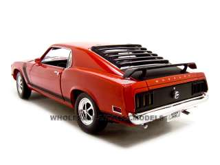 1970 FORD MUSTANG BOSS 302 RED 118 DIECAST MODEL