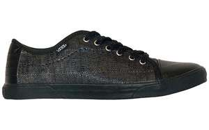 Vans Hadley Lo Snake Plaid Black Womens Skate Shoes