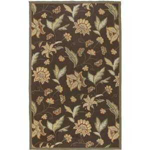 Rain Collection Rain 1014 Chocolate Brown Floral Area Rug