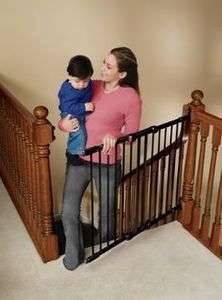 Metal Angle Mount Safeway   #1 Rated Top Of Stairs Baby Gate