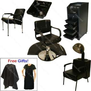 HYDRAULIC BARBER CHAIR STATION SHAMPOO BOWL SINK HAIR DRYER SPA SALON