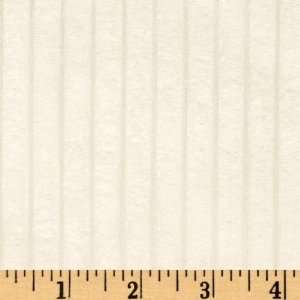 60 Wide Minky Cuddle Corduroy Ivory Fabric By The Yard