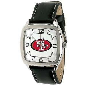 San Francisco 49Ers Mens Retro Style Watch Leather Band