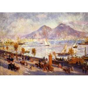 Oil Painting Mount Vesuvius in the Morning Pierre Auguste Renoir Han