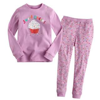 Baby&Toddler Kids Girl Sleepwear Pajama Set Pink Sweet Dream