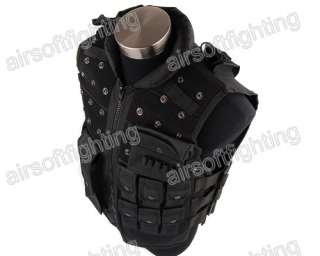 Airsoft Wargame Tactical Combat Assault Vest Black A
