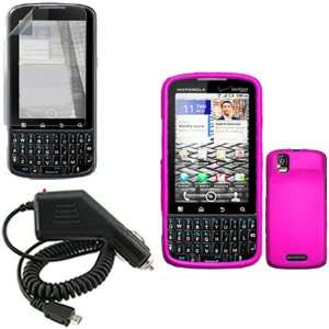 Droid PRO XT610 Combo Rubber Hot Pink Protective Case Faceplate