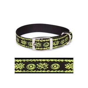 Casual Canine Artisan Prints Parrot Green Nylon Dog Collar