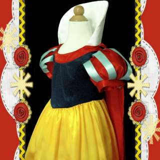 Snow White Princess Christmas Party Girls Pageant Dress Costume AGE 3