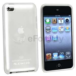 Clear Frost White TPU Rubber Soft Gel Case Skin Cover for iPod Touch 4