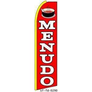 Menudo Red Extra Wide Swooper Feather Business Flag