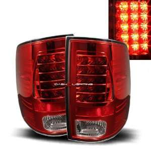 09 10 Dodge Ram 1500 LED Tail Lights   Red Clear Automotive