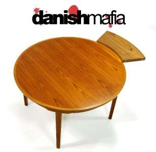 MODERN TEAK DYRLUND DINING TABLE LOTUS FLIP FLAP EAMES ERA