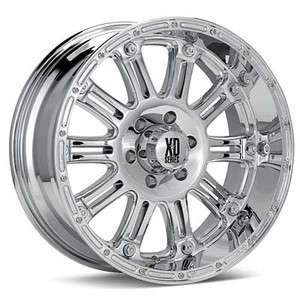 22 inch KMC XD Hoss chrome wheels rims 5x150 +30 Tundra