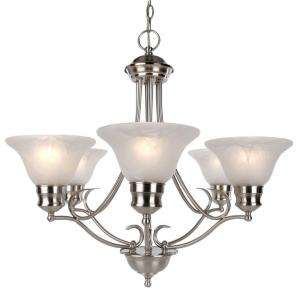 Hampton Bay Satin Nickel 6 Light Chandelier AJJ8115