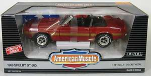 1969 Ford Mustang Shelby GT 500 in 118 Scale   Ertl   Red