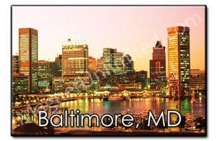 Skyline Baltimore   Maryland Souvenir Fridge Magnet #2