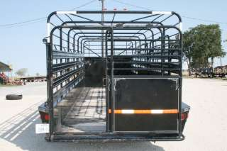 Used 24 Gooseneck Livestock Cattle Trailer w/7K Axles