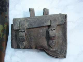 WWII ORIGINAL GERMAN LEATHER ENGINEER CORE AXE CARRIER