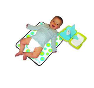 BABY WIPE & NAPPY BOX Changing Mat Pink Red Travel NEW