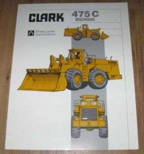 Clark Michigan 475C Wheel Loader Specification Brochure