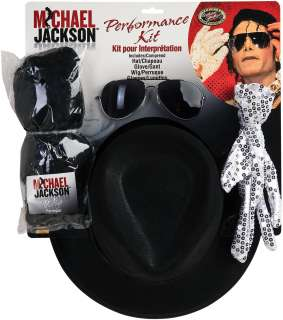 Michael Jackson Performance Kit Adult   Includes Wig, glasses, hat