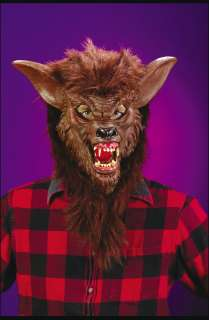 Adult Deluxe Werewolf Mask   Wolfman Costume Masks   15FW8546WB