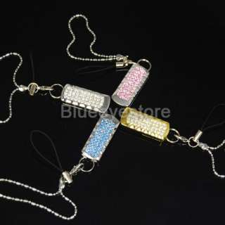 8GB Charm Pink Swarovski Crystals Jewellery USB 2.0 Flash Memory Pen