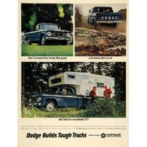 1966 Ad Dodge Trucks Camper Special Pickup Chrysler   Original Print