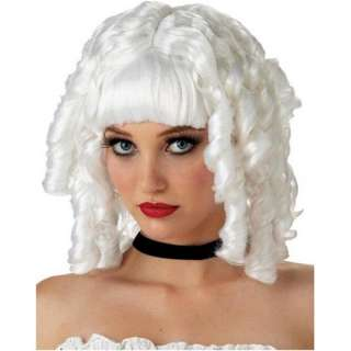 Old Fashioned Spiral Curl White Ghost Doll Costume Wig
