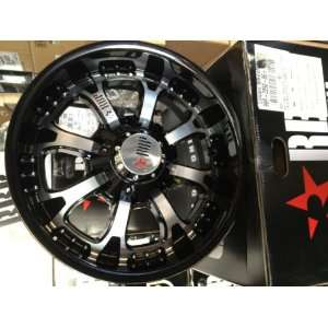 96R BLACK & MACHINED WHEELS, RIMS, 8x170, FORD F250/F350, EXCURSION