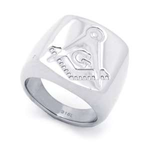 21MM Stainless Steel Masonic Ring For Men (Size 8 to 14